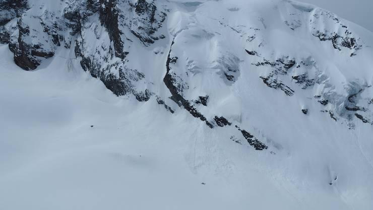 Hier, auf dem Mont-Brulé, ereignete sich das Lawinenunglück.