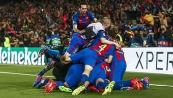 In der 95. Minute gibt es in Barcelona kein Halten mehr.