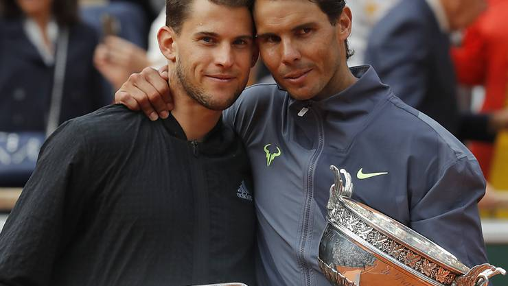 Im French-Open-Final Gegner, beim Laver Cup im September in Genf Teamkollegen: Dominic Thiem (li.) und Rafael Nadal