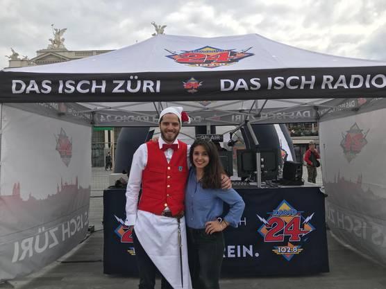 Die Abigshowmoderatoren Céline Werdelis und Maximilian Baumann (hier in seinem schönen Zunft-Outfit) moderieren live ab 15 Uhr vom Sechseläuten.