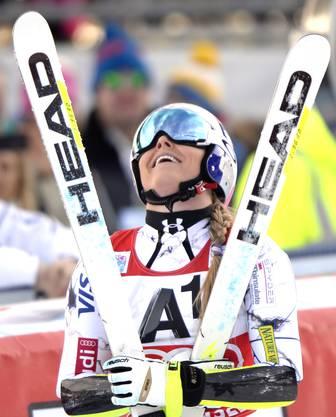 Lindsey Vonn sicherte sich ihren zweiten Super-G-Sieg der Saison.