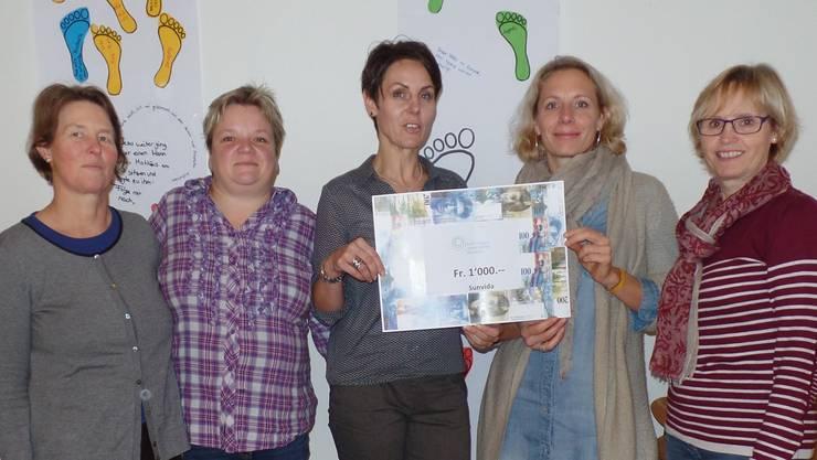 Vorstandsmitglieder mit Corinne Häusler, Präsidentin sunvida