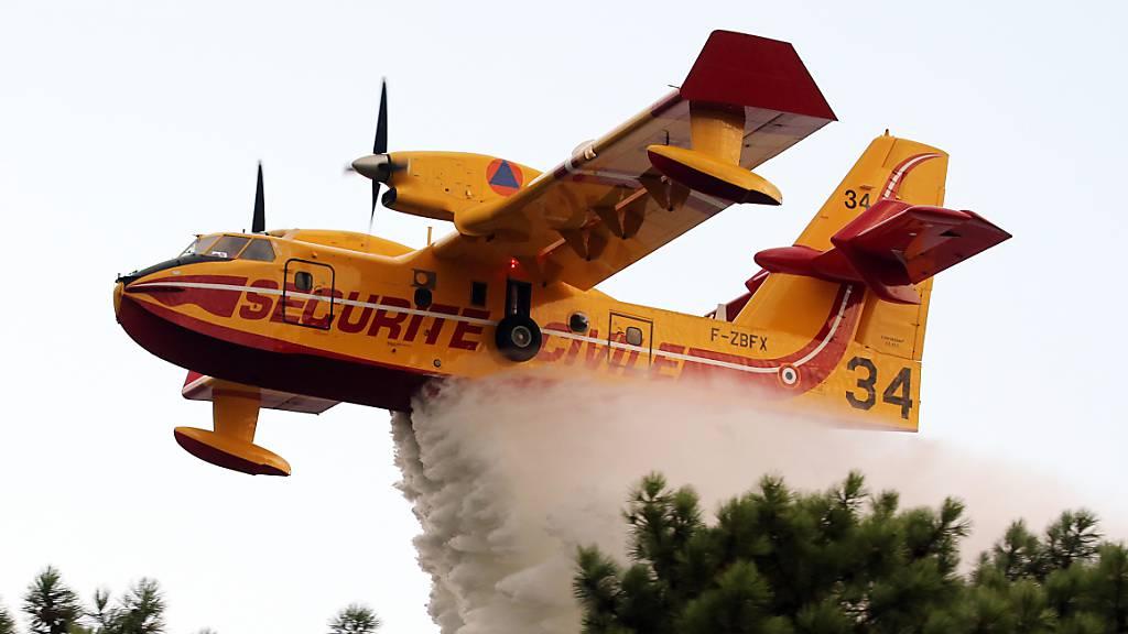 Brand im Südwesten Frankreich zerstört Wald und Häuser