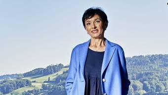 Porträt von Ständeratskandidatin Marianne Binder. Aufgenommen am 04. September 2019 in Bundesbern.