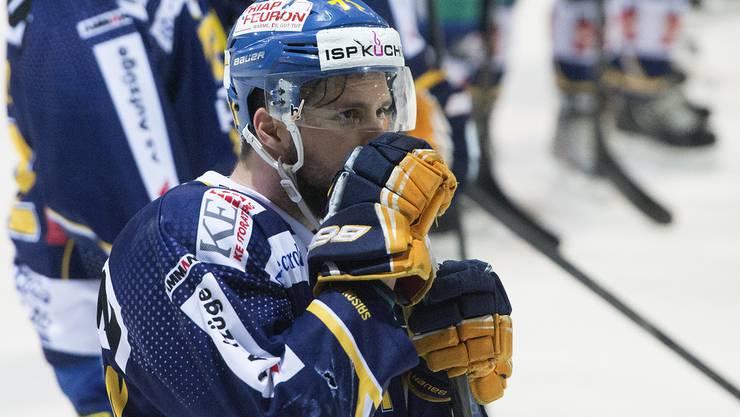 Stefan Tschannen traf als einziger Langenthaler, musste am Schluss aber auch als Verlierer vom Eis.