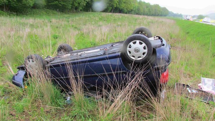 Bei dem Selbstunfall überschlug sich das Auto mehmals.