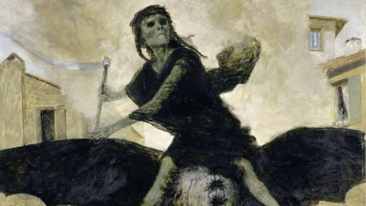 In «Die Pest» gibt Arnold Böcklin der todbringenden Seuche ein furchterregendes Gesicht.