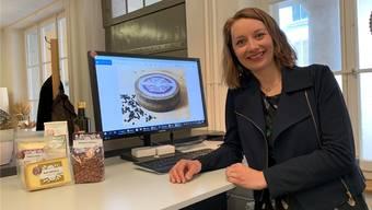 Käse dominiert den Computerbildschirm von Christina Bachmann-Roth.