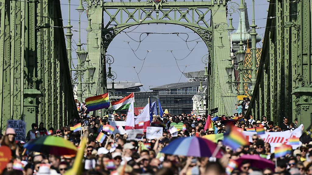 Ungarn: Zehntausende demonstrieren für Rechte Nicht-Heterosexueller