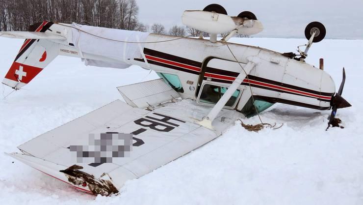 Das Schulflugzeug Typ Cessna 152. ZVG/Kantonspolizei Aargau