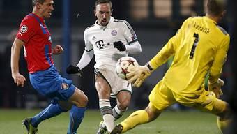Franck Ribéry blieb gegen die Tschechen aus Pilsen ohne Torerfolg.