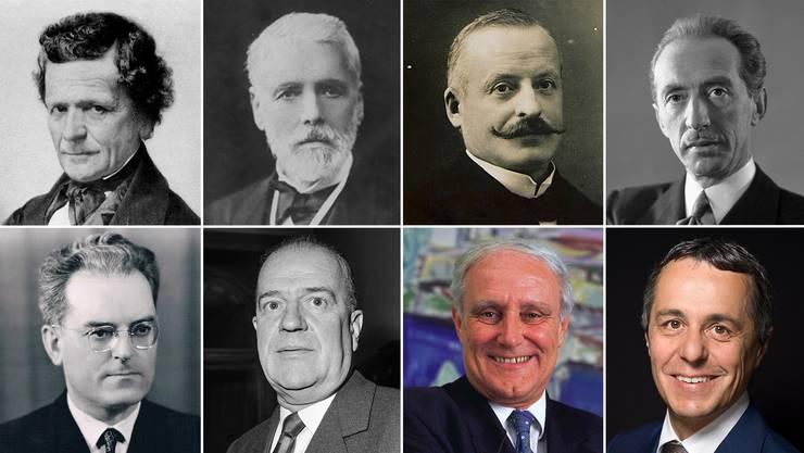 Acht von bisher 117 Bundesräten  seit 1848 stammten aus dem Kanton Tessin.