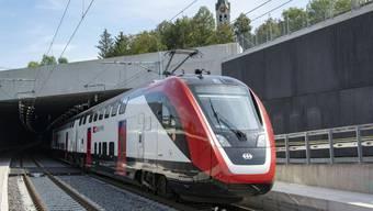 Der Tunnel auf der Strecke Olten-Aarau geht am 13. Dezember in Betrieb. Jetzt werden Probefahrten durchgeführt.