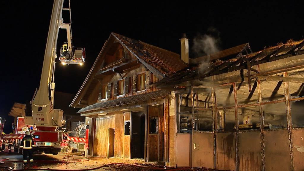 Rothenburg (LU): Brand auf Bauernhof