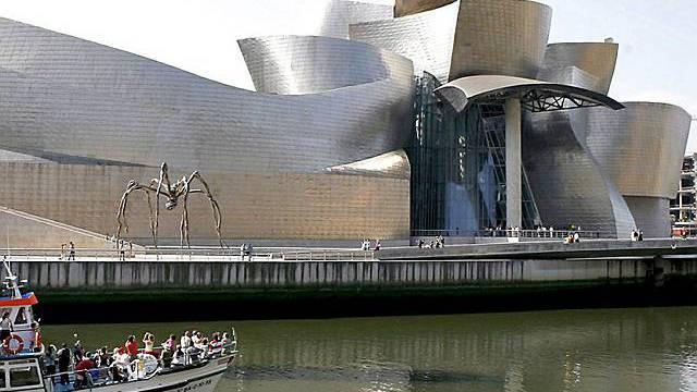 Das Guggenheim-Museum in der baskischen Stadt Bilbao