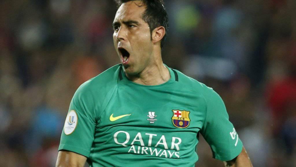 Neu in England unter Vertrag: Chiles Goalie Claudio Bravo