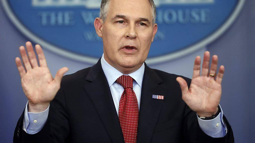 US-Umweltminister Scott Pruitt will den Klimaplan der Vorgängerregierung abschaffen. (Archiv)