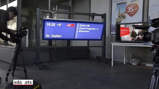SBB installiert neue digitale Anzeigen auf den Perrons