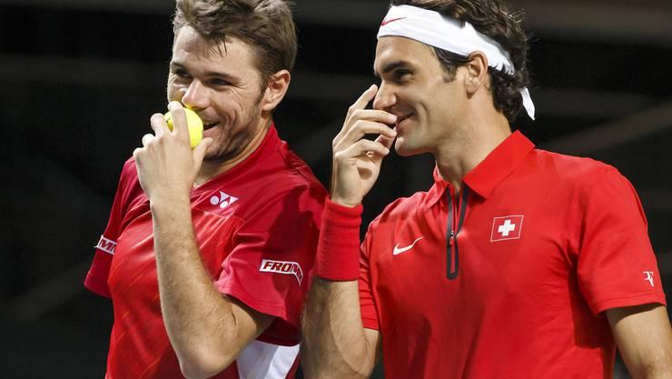 Stanislas Wawrinka und Roger Federer