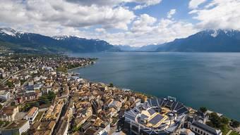 Die Waadtländer Stadt Vevey am Genfersee. (Archivbild)