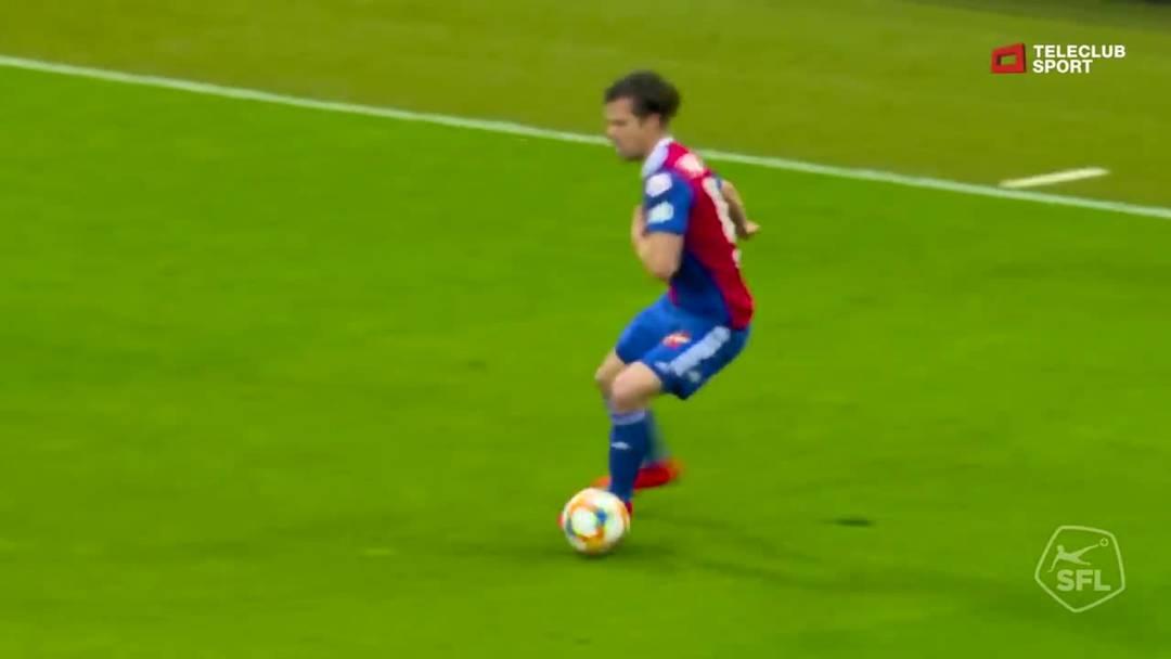 Super League, 2018/19, 32. Runde, FC Basel – FC Zürich, 44. Minute: Schuss von Ricky van Wolfswinkel