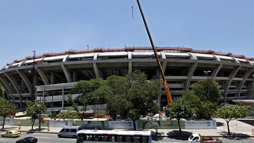 Im Estadio do Maracana in Rio de Janeiro ist nun ein provisorisches Spital untergebracht