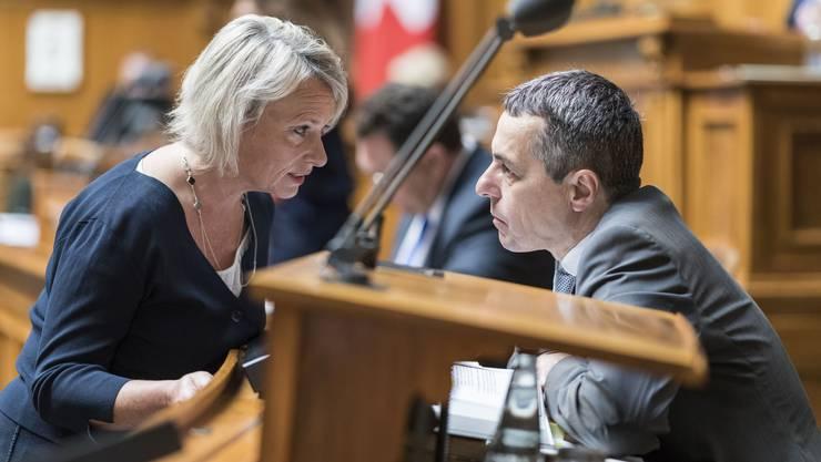 Wird Elisabeth Schneider-Schneiter doch noch Bundesratskollegin von Ignazio Cassis? Die Chancen sind seit gestern nicht besser geworden.