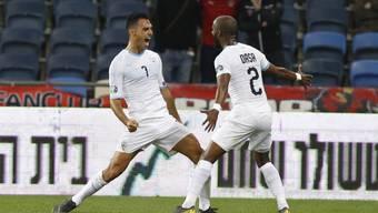 Eran Zahavi (links) war beim 4:2-Sieg Israels gegen Österreich an allen vier Toren beteiligt