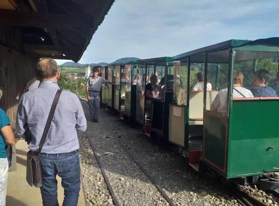 Die Bergbahn erleichterte einiges an Arbeit. Heute bringt sie die Gäste zum Stolleneingang hoch.