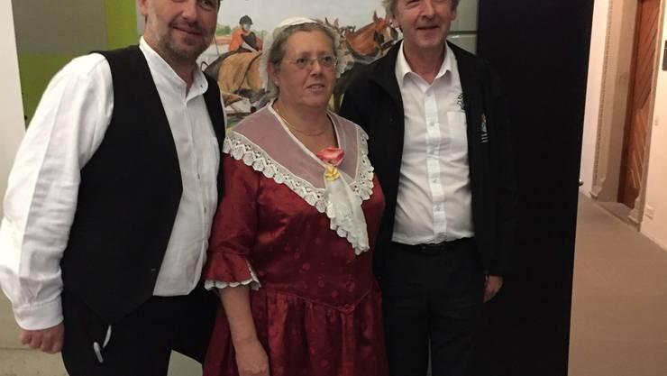 vlnr: Johannes Schmid-Kunz, Projektleiter; Monica Péter-Contesse, Geschäftsleitung STV, Gérard Queloz, OK-Präsident (Bild: zVg)