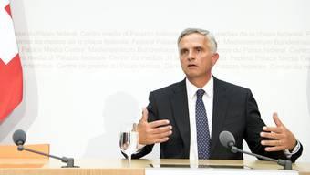 Medienkonferenz Burkhalter Bundesrat Europa-Dossier