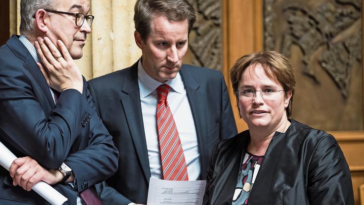 Für die SVP in den Bundesrat? Thomas Aeschi und Magdalena Martullo.