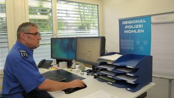 Marco Veil, der Chef der Regionalpolizei Wohlen, die für acht Gemeinden mit zusammen über 36000 Einwohnern zuständig ist. Toni Widmer