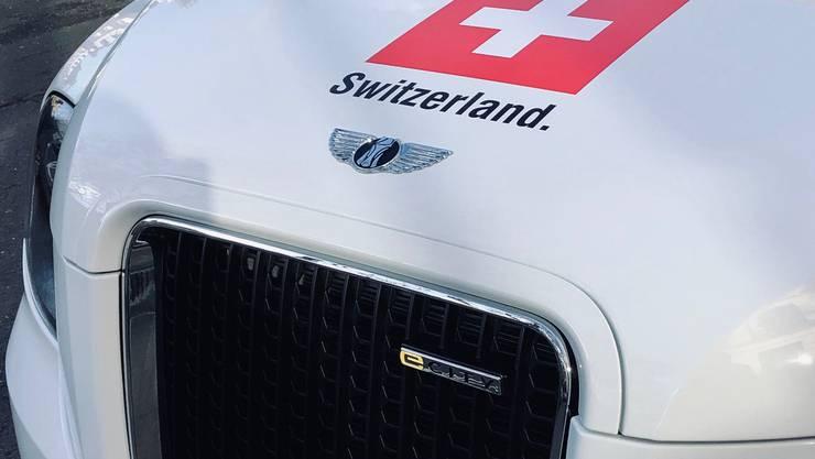 «Brilliant electric London cab», schwärmt die Schweizer Botschaft auf Twitter über ihr neustes Gefährt.