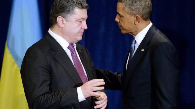 Petro Poroschenko und Barack Obama am Mittwoch in Warschau