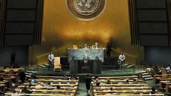 Blick in die UNO-Vollversammlung in New York (Archiv)