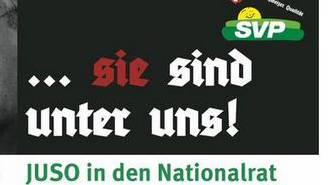 Die Aargauer Jusos kontern Andreas Glarners Wahlplakat mit einer eigenen Kreation.