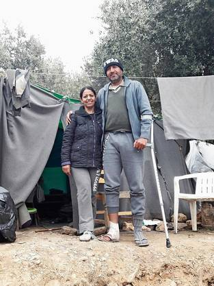 Zwei Flüchtlinge, die Gretler verarztet hat.