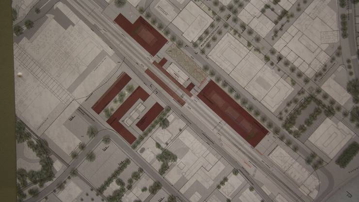 Diese drei Baukörper sind laut Plan der Projektstudie in der Planung möglich.