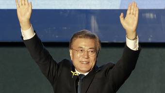 Soll Südkorea einen Neuanfang bescheren: Wahlsieger Moon Jae In.