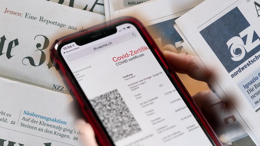 Schweizer Medien begrüssen Ausweitung des Corona-Zertifikats