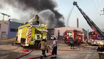 In Pratteln ist am Sonntagabend ein Produktionsbetrieb in Brand geraten. Im Einsatz standen rund 180 Personen von Feuerwehren, Polizei, Sanität und Krisenstab.