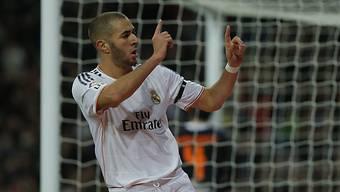 Karim Benzema brachte Real Madrid mit 1:0 in Führung.
