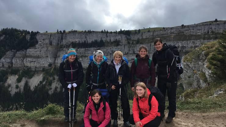 Gruppenfoto bei der Wanderung