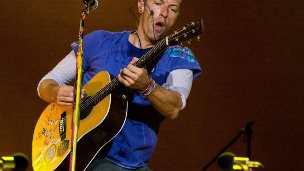 Bands wie Coldplay (hier Sänger Chris Martin) ärgern sich über YouTube und beschweren sich bei der EU-Kommission. (Archiv)