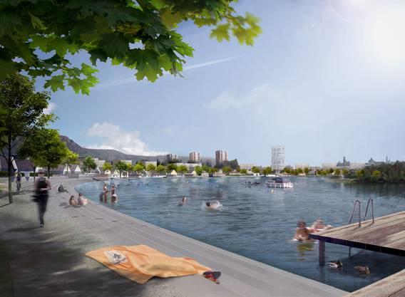 So könnte die Uferpromenade aussehen