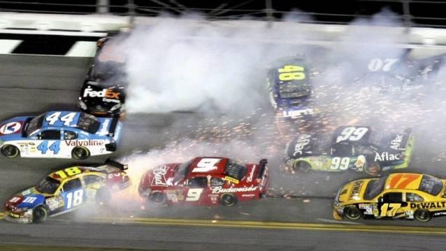 Das Daytona-500-Rennen wurde durch eine Massenkarambolage überschattet