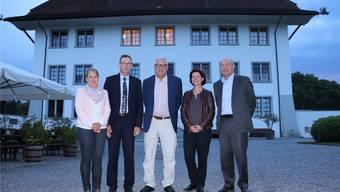 RVS-Geschäftsführerin Lis Lüthi und -Präsident Rolf Buchser, aargauSüd-Präsident Martin Widmer, -Vorstandsmitglied Karin Faes und -Geschäftsführer Herbert Huber(v.l.).
