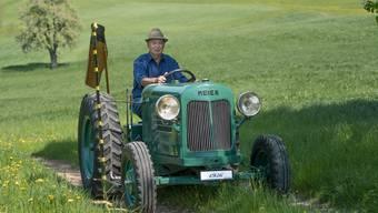 Fritz Morgenegg aus Zetzwil hat einen historischen Meier-Traktor restauriert, der 1936 in Berikon gebaut worden ist.