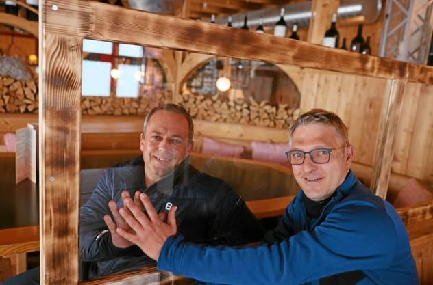 Hannes Schimberg (links) mit Höhenweg-Geschäftsführer Sven Kruschke.
